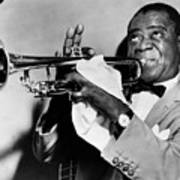 Louis Armstrong (1900-1971) Poster