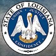 Louisiana State Seal Poster
