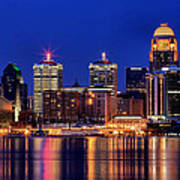Louisville Skyline At Dusk Poster