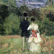 Louveciennes, Detail Of Lovers Poster