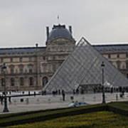 Louvre - Paris France - 01138 Poster by DC Photographer