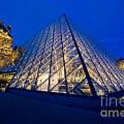 Louvre Pyramid At Dusk Poster