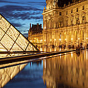 Louvre Reflections Poster by Brian Jannsen