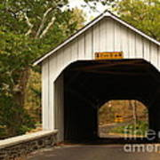Loux Bridge And Sharp Left - Bucks County  Poster by Anna Lisa Yoder