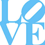 Love 20130707 Blue White Poster by Wingsdomain Art and Photography