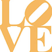 Love 20130707 Orange White Poster by Wingsdomain Art and Photography