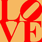 Love 20130707 Red Orange Poster by Wingsdomain Art and Photography
