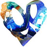 Love 4 - Heart Hearts Romantic Art Poster