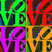 Love 4 Philadelphia - Painterly V4 Poster by Wingsdomain Art and Photography