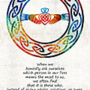 Love And Friendship Art By Sharon Cummings Poster