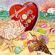 Love At The Beach Poster