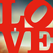 Love Beach Poster