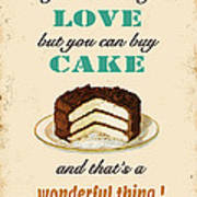 Love Cake Typography Poster