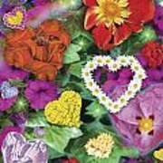 Love Flowers Garden Poster