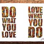 Love In Life Acrylic Palette Knife Painting Poster