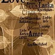 Love Leaves Poster