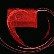 Love Letter Fine Fractal Art Poster by Georgeta  Blanaru