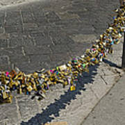 Love Locks - Florence Italy Poster