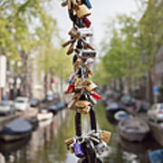 Love Padlocks In Amsterdam Poster
