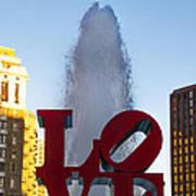 Love Statue In Philadelphia Pa Poster