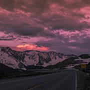 Loveland Pass Sunset Poster by Michael J Bauer