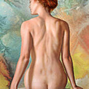 Lovely Back-becca In Abstract Poster by Paul Krapf