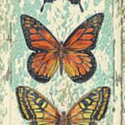 Lovely Butterfly Trio On Tin Tile Poster