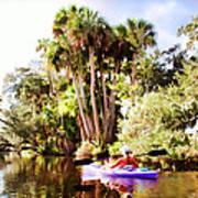 Lovely Kayaker Poster