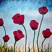 Lovely Poppies Poster