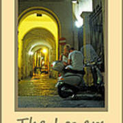 Lovers Sorrento Italy Poster