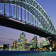 Low Angle View Of A Bridge, Sydney Poster