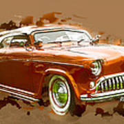 Low Rider Car Poster