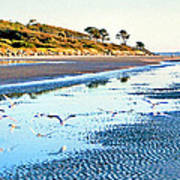 Low Tide At Jekyll Island Poster
