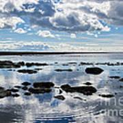 Low Tide At Lyme Regis 2 Poster