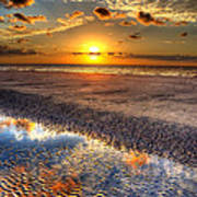 Low Tide Sunrise On Jekyll Island Poster