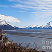 Low Tide Turnagain Arm Poster by Chris Heitstuman