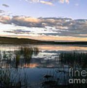 Lower Carter Pond At Dusk Poster