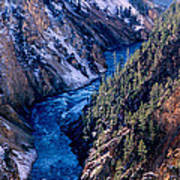 Lower Falls Into Yellowstone River Poster