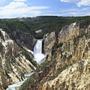 Lower Falls Of The Yellowstone Poster