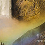 Lower Falls Rainbow - Yellowstone Poster