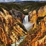 Lower Falls Yellowstone Poster