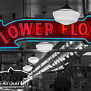 Lower Floor Selective Black And White Poster