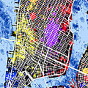 Lower Manhattan Map Poster