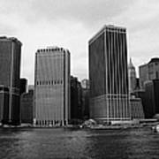 Lower Manhattan Shoreline And Skyline And Financial District Waterfront New York City Poster