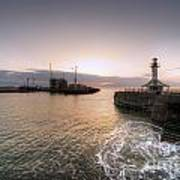 Lowestoft Harbour At Dawn Poster
