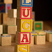 Lucas - Alphabet Blocks Poster