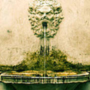 Lucca Fountain Poster
