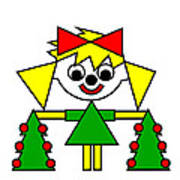 Lucca With Christmas Trees Wishes You A Merry Christmas Poster