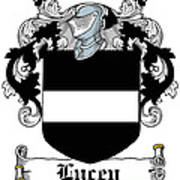 Lucey Coat Of Arms Irish Poster