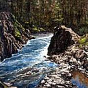 Lucia Falls Downstream Poster